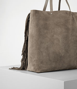 Damen Club New Lea Fringe Tote (Almond/Taupe) - product_image_alt_text_2