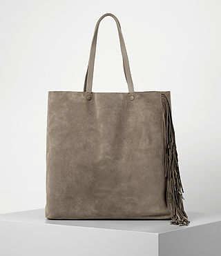 Women's Club New Lea Fringe Tote (Almond/Taupe) - product_image_alt_text_4