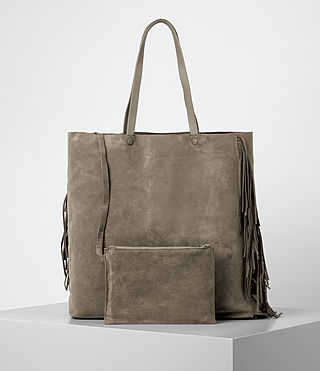 Women's Club New Lea Fringe Tote (Almond/Taupe) - product_image_alt_text_5
