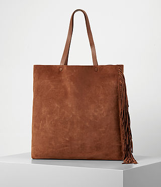 Women's Club New Lea Fringe Tote (Woody/Tan) -