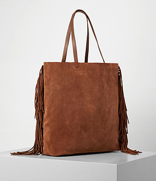 Damen Club New Lea Fringe Tote (Woody/Tan) - product_image_alt_text_3