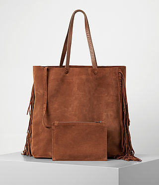 Damen Club New Lea Fringe Tote (Woody/Tan) - product_image_alt_text_5