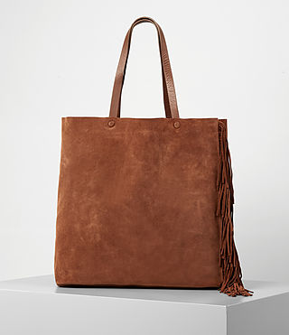 Women's Club New Lea Fringe Tote (Woody/Tan) - product_image_alt_text_6