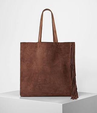 Mujer Club New Lea Fringe Tote (BRANDY/BRICK BROWN) -