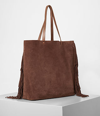 Mujer Club New Lea Fringe Tote (BRANDY/BRICK BROWN) - product_image_alt_text_2