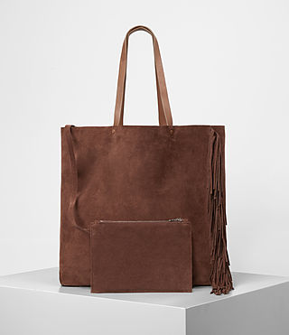 Mujer Club New Lea Fringe Tote (BRANDY/BRICK BROWN) - product_image_alt_text_4