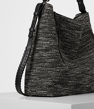 Damen Kita Tweed North South Tote (Black/White) - product_image_alt_text_3