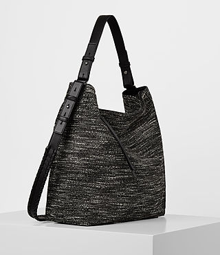Damen Kita Tweed North South Tote (Black/White) - product_image_alt_text_4
