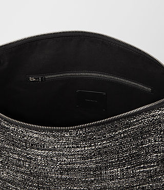 Damen Kita Tweed North South Tote (Black/White) - product_image_alt_text_5