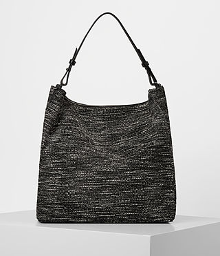 Damen Kita Tweed North South Tote (Black/White) - product_image_alt_text_6
