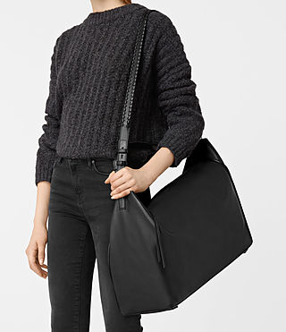Women's Kita Large East West Tote (Black) - product_image_alt_text_2