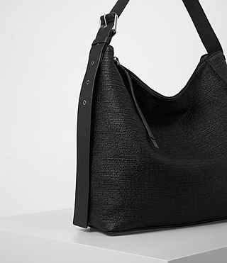 Womens Zoku Tweed North South Tote (Black) - product_image_alt_text_3