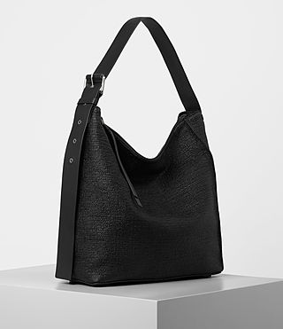 Womens Zoku Tweed North South Tote (Black) - product_image_alt_text_4