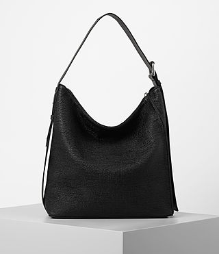 Womens Zoku Tweed North South Tote (Black) - product_image_alt_text_6