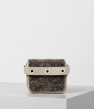Womens Ikuya Small Clutch (Taupe Brown)