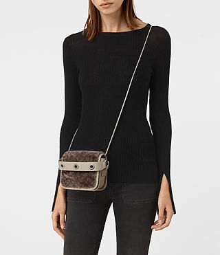 Womens Ikuya Small Clutch (Taupe Brown) - product_image_alt_text_2