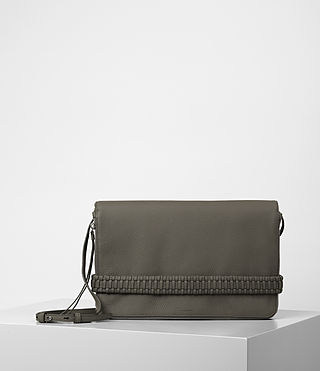 Damen Club Large Clutch (MINK GREY)