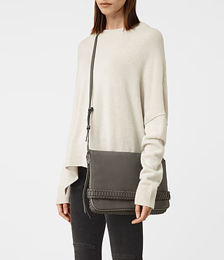 Womens Club Large Clutch (MINK GREY) - product_image_alt_text_2