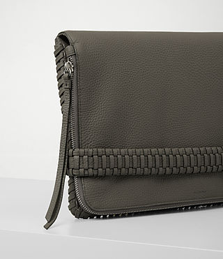 Womens Club Large Clutch (MINK GREY) - product_image_alt_text_3