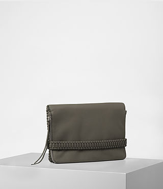 Womens Club Large Clutch (MINK GREY) - product_image_alt_text_4