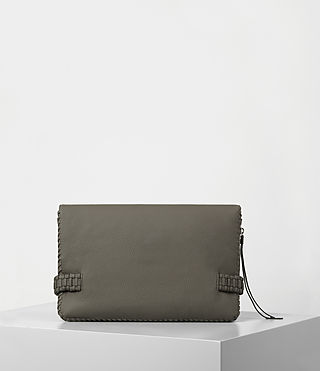Womens Club Large Clutch (MINK GREY) - product_image_alt_text_6