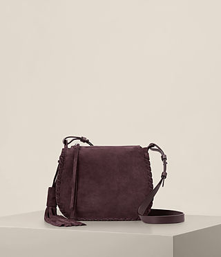 Womens Mori Suede Crossbody (PRUNE)