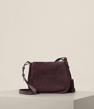 Women's Mori Suede Crossbody (PRUNE) - product_image_alt_text_7