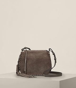 Womens Mori Suede Crossbody (MINK GREY)