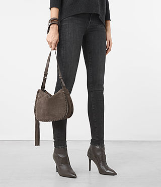 Womens Mori Suede Crossbody (MINK GREY) - product_image_alt_text_2