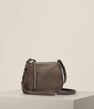 Womens Mori Suede Crossbody (MINK GREY) - product_image_alt_text_4