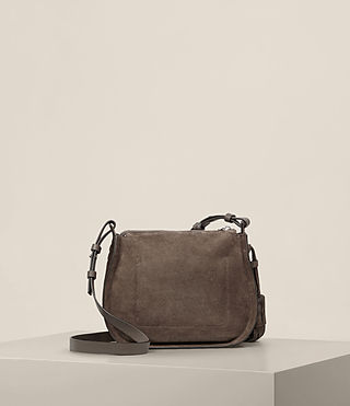 Womens Mori Suede Crossbody (MINK GREY) - product_image_alt_text_7