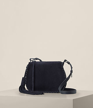 Damen Mori Suede Crossbody (Dark Blue)