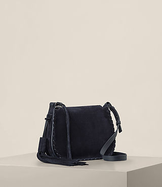 Mujer Mori Suede Crossbody (Dark Blue) - product_image_alt_text_4