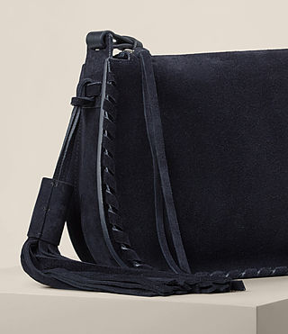 Womens Mori Suede Crossbody (Dark Blue) - product_image_alt_text_5