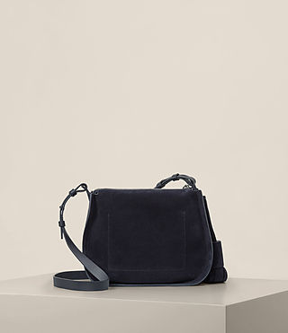 Womens Mori Suede Crossbody (Dark Blue) - product_image_alt_text_7