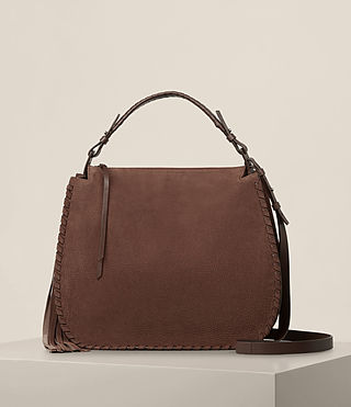 Damen Mori Nubuck Hobo Bag (Chocolate Brown) -