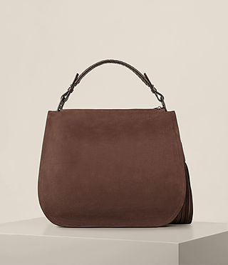 Women's Mori Nubuck Hobo Bag (Chocolate Brown) - product_image_alt_text_7