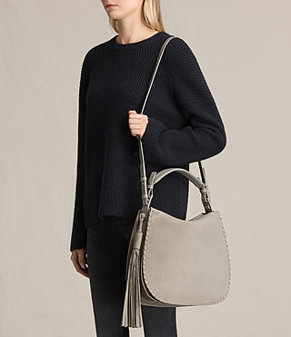 Womens Mori Nubuck Hobo Bag (LIGHT CEMENT GREY) - product_image_alt_text_2