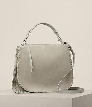 Womens Mori Nubuck Hobo Bag (LIGHT CEMENT GREY) - product_image_alt_text_5