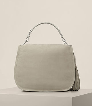 Damen Mori Hobo-Tasche aus Nubukleder (LIGHT CEMENT GREY) - product_image_alt_text_7