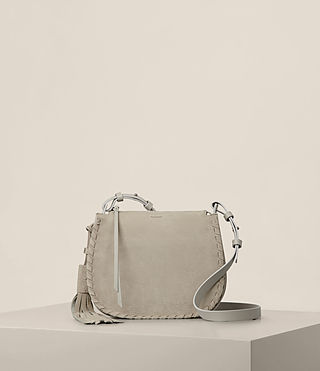 Damen Mori Nubuck Crossbody (LIGHT CEMENT GREY)