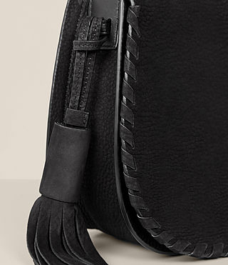 Womens Mori Nubuck Crossbody (Black) - Image 3