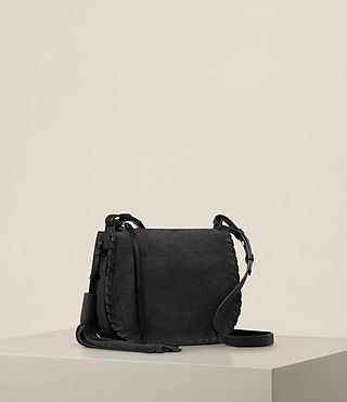 Women's Mori Nubuck Crossbody (Black) - product_image_alt_text_6