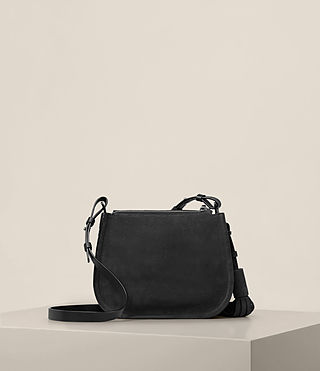 Womens Mori Nubuck Crossbody (Black) - Image 8
