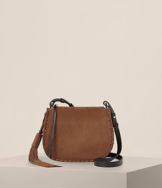 Women's Mori Nubuck Crossbody Bag (COFFEE BROWN) - Image 1