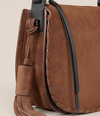 Women's Mori Nubuck Crossbody Bag (COFFEE BROWN) - Image 3