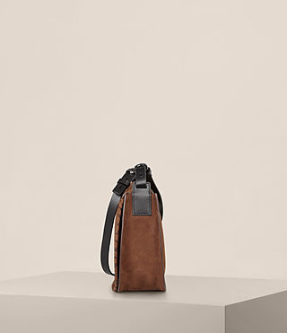 Women's Mori Nubuck Crossbody Bag (COFFEE BROWN) - Image 4