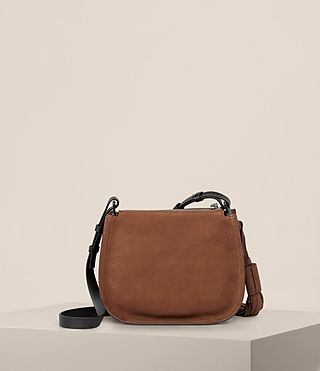 Women's Mori Nubuck Crossbody Bag (COFFEE BROWN) - Image 7