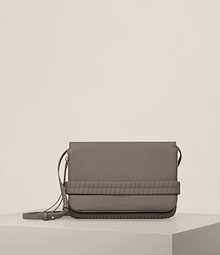 Womens Club Medium Clutch (Ash Grey)