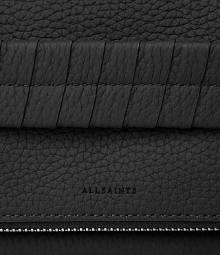 Womens Club Leather Clutch (Black) - Image 4